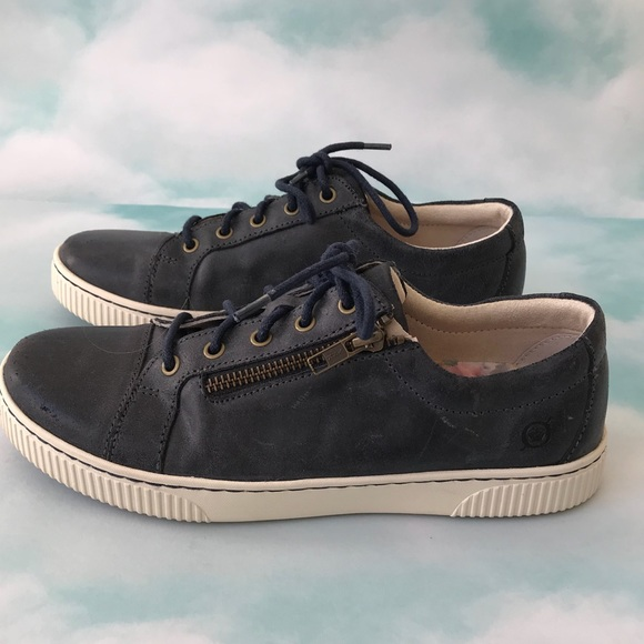 Born Tamara Casual Zip Leather Sneakers